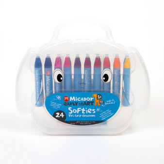 Micador early stART Softies Tri-grip Crayon 24 Set