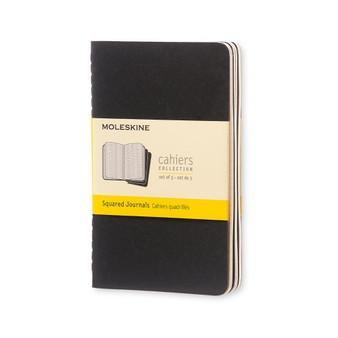 Moleskine Cahier 3pk Black Pocket Grid