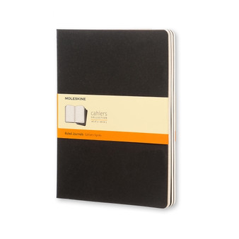Moleskine Cahier Journal 3 Pack Ruled Extra-Large Black