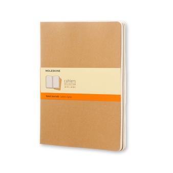 Moleskine Cahier Journals 3 Pack Ruled Extra-Large Kraft