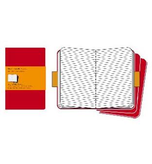 Moleskine Cahier 3pk Red Pocket Ruled
