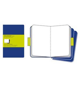 Moleskine Cahier 3pk Blue Pocket Plain
