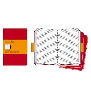 Moleskine Cahier 3pk Red Large Ruled