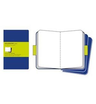 Moleskine Cahier 3pk Blue Xl Plain