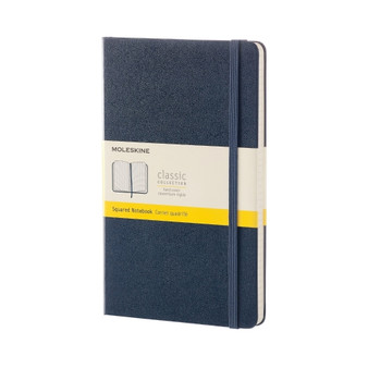 Moleskine Classic Hardcover Squared Large Notebook Sapphire Blue