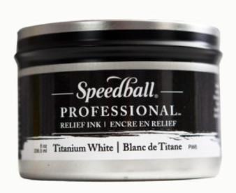 Speedball Professional Relief Ink 8oz Titanium White