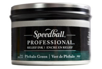 Speedball Professional Relief Ink 8oz Phthalo Green