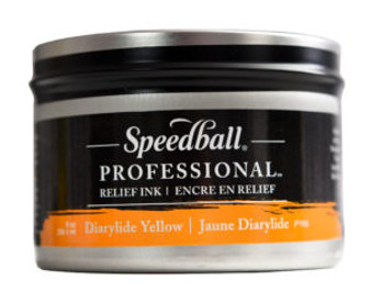 Speedball Professional Relief Ink 8oz Dairylide Yellow