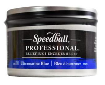 Speedball Professional Relief Ink 8oz Ultramarine Blue