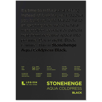 Stonehenge Aqua Black 140lb Cold Press 10x14""