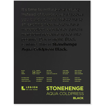 Stonehenge Aqua Black 140lb Cold Press 9x12""