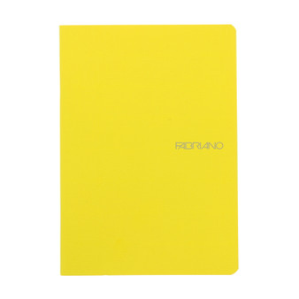 "Fabriano EcoQua Staple-bound Blank Paper 5.8""x8.2"" Lemon"