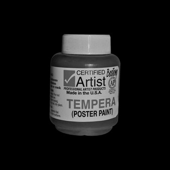 Bestemp Tempera Paint 2oz Black