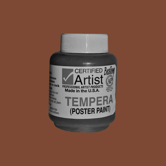 Bestemp Tempera Paint 2oz Brown