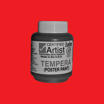 Bestemp Tempera Paint 2oz Red