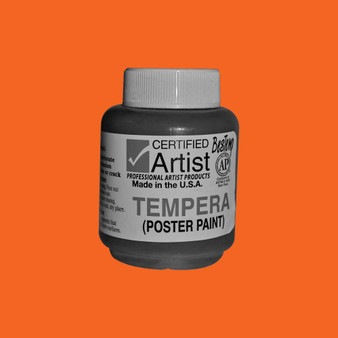 Bestemp Tempera Paint 2oz Orange