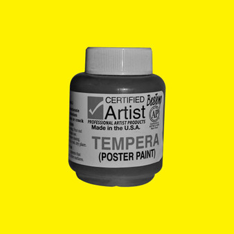 Bestemp Tempera Paint 2oz Yellow