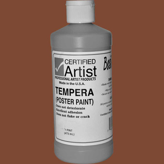 Bestemp Tempera Paint 16oz Brown