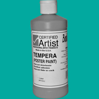 Bestemp Tempera Paint 16oz Turquoise