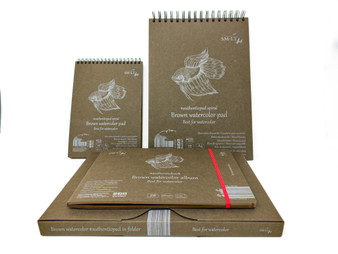 SM-LT Art Paper Authentic Watercolor Pad Brown A5