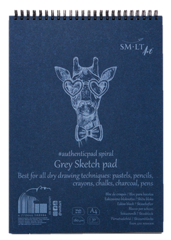 SM-LT Art Paper Authentic Sketch Pad Grey A4