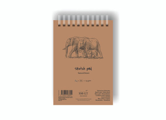 SM-LT Art Paper Authentic  Sketch Pad Brown A4