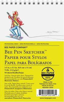Bee Paper Sketch Pad Pen Sketchers 3.5X5.5 50sh