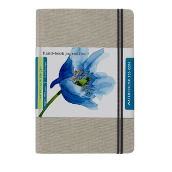"Hand Book Journal Travel Watercolor 140lb Portrait 8.25"" x 5.5"""