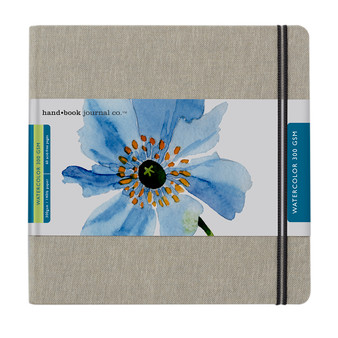 Hand Book Journal Travel Watercolor 140lb Square