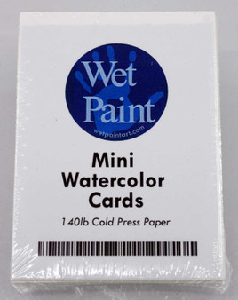 Wet Paint Mini Watercolor Cards Pack of 10 Sheets