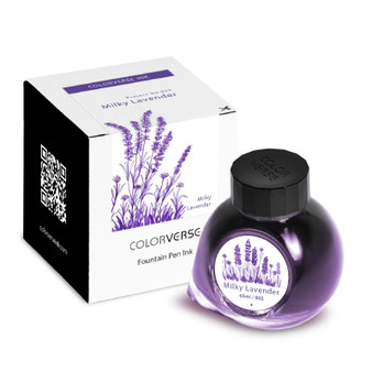 ColorVerse Fountain Pen Project Ink 65ml Bottle Milky Lavender