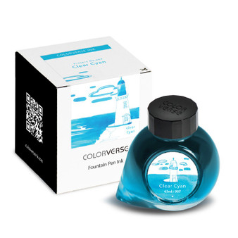 ColorVerse Fountain Pen Project Ink 65ml Bottle Clear Cyan