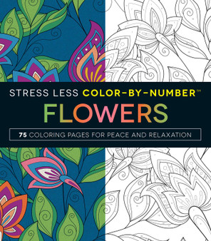 Stress Less Color-By-Number Flowers