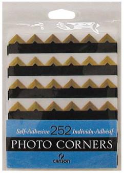 Canson Self-Adhesive Photo Corner Sheets Gold