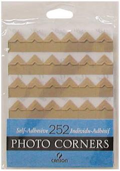 Canson Self-Adhesive Photo Corner Sheets Kraft