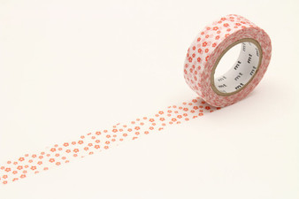 MT Washi Tape Flower White
