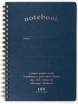 Life Stationery Pocket Notes Spiral Notebook Blue A5