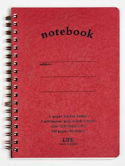 Life Stationery Pocket Notes Spiral Notebook Red B6
