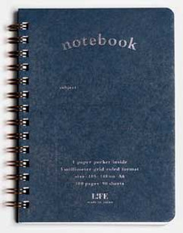 Life Stationery Pocket Notes Spiral Notebook Blue A6