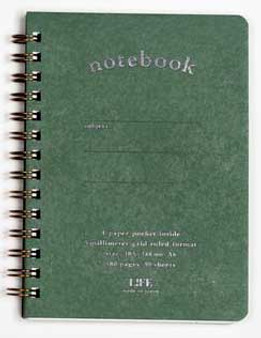 Life Stationery Pocket Notes Spiral Notebook Green A6