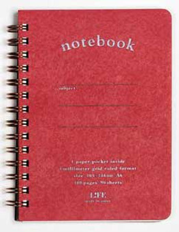 Life Stationery Pocket Notes Spiral Notebook Red A6