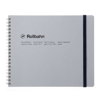 Rollbahn Notebook Landscape Field Size 8X7 White