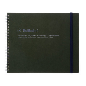 Rollbahn Notebook Landscape Field Size 8X7 Olive