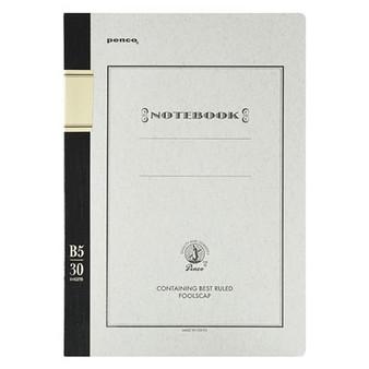 Penco Foolscap Ruled Notebook B5 Black