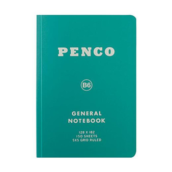 Penco General Grid Notebook B6 Green