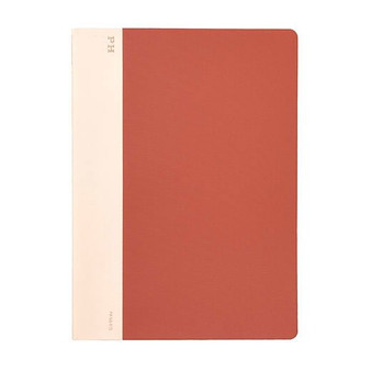 Hightide Stationery Cheesecloth Ruled Notebook B5 Red