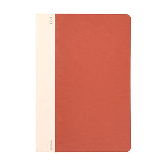 Hightide Stationery Cheesecloth Ruled Notebook B6 Red
