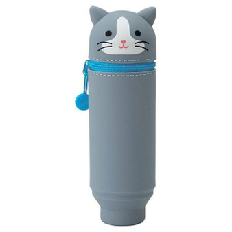Punilabo Silicone Pen Case Gray Cat