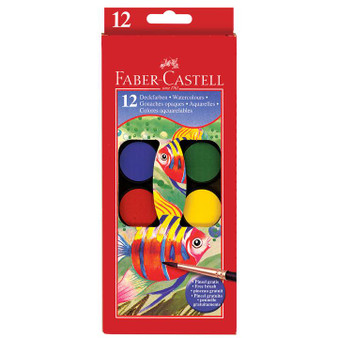 Faber-Castell Watercolor Paint Set of 12 Colors
