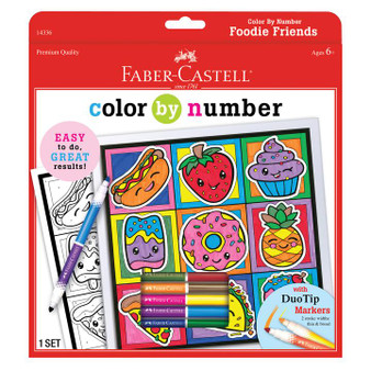 Faber-Castell Color by Number Foodie Friends